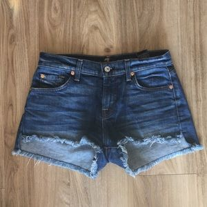 7 for all mankind frayed hem shorts